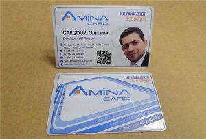 Business Name card prining vzorka z stolnej uv tlačiarne - veľkosť A2 WER-D4880UV