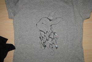 Šedá vzorka tlače tričiek A2 tričká WER-D4880T